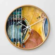 When Apple meets Acoustic Guitar Wall Clock