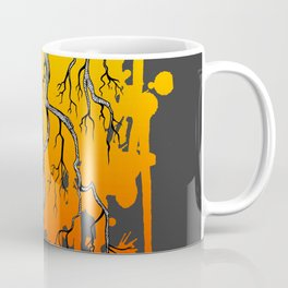 Liquid Autumn Leaves (Dark) Coffee Mug