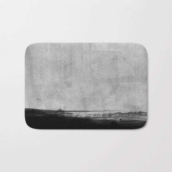 Black and Gold grunge stripes on modern grey beton abstract backround I- Stripe- Striped Bath Mat
