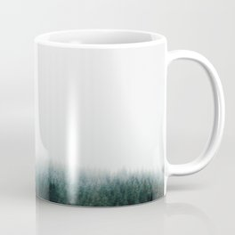 Misty Pine Forest Minimalist Foggy Landscape Photography Coffee Mug