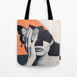 collage art / butterfly Tote Bag