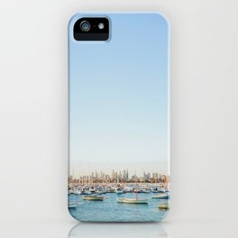 Melbourne Skyline at Sunset iPhone Case