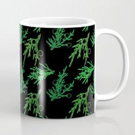 Juniper Sprigs (Black Glow) - Forest Coffee Mug