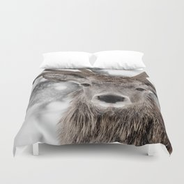 WINTER STAG Duvet Cover