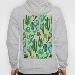 ALL OVER CACTUS FLORAL CLUSTER PATTERN Hoody
