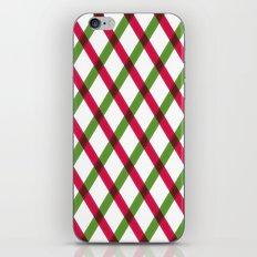 Holiday Ribbon Pattern iPhone Skin