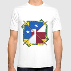 Altered State: TX MEDIUM White Mens Fitted Tee