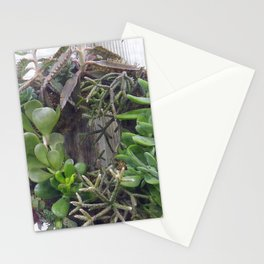 A Wreath of Succulent Plants Stationery Cards