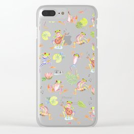 Party frogs Clear iPhone Case
