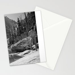 Nude Male at Lake Stationery Cards