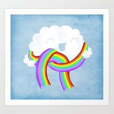 Mr clouds new scarf Art Print