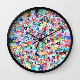 Polka Daub Explosion Wall Clock