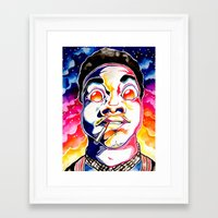 chance the rapper Framed Art Prints featuring Chance The Rapper  by Clara Bacou