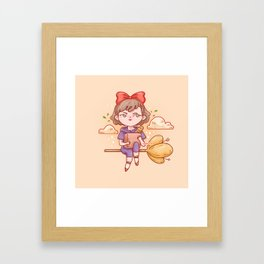 Witch's delivery Framed Art Print