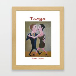 El Beso Tango by Diego Manuel Framed Art Print