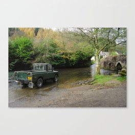 Landrover and the Ford  Canvas Print