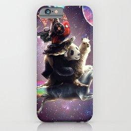 Cat Riding Chicken Turtle Panda Llama Unicorn iPhone Case