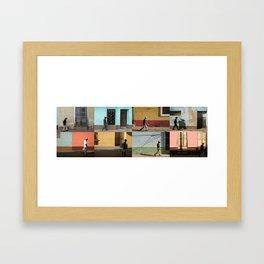 Cuba Men Walking  - Horizontal Framed Art Print