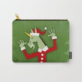 Santa Unicorn In the House Carry-All Pouch