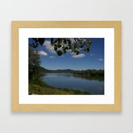 Kentucky and Ohio river Framed Art Print