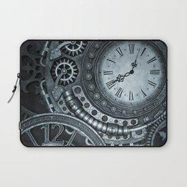Silver Steampunk Clockwork Laptop Sleeve