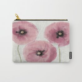Pink Vintage Poppies II Carry-All Pouch