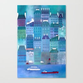 Paris Blues Painting Canvas Print