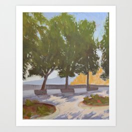 Tree Painting from Todi Umbria Art Print