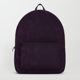 Deep Purple Leopard Print Backpack