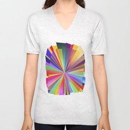 colorful love Unisex V-Neck