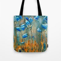 matty healy Tote Bags featuring  Bluebells. by Mary Berg