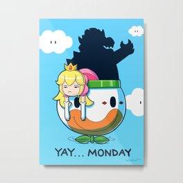 Yay Monday, Peach Metal Print
