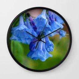 Pop of Blue Wall Clock