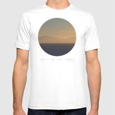 Lost In The Haze Mens Fitted Tee White MEDIUM