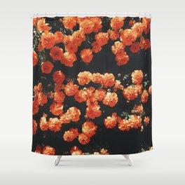 Orange flower fleurs Shower Curtain