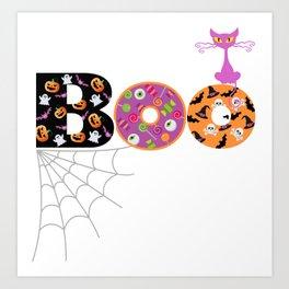 Halloween Boo Text Cute Design Great Gift Art Print