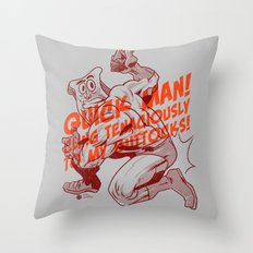 Powdered Toast Man -after kirby Throw Pillow