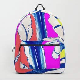 Plant in Blue Marker - Leaf of Life Miracle Leaf - Colorful Backpack