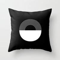 moonrise Throw Pillows featuring MOONRISE by THE USUAL DESIGNERS