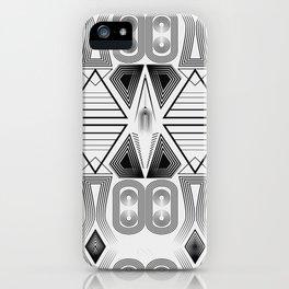 "Art Deco. ""Black and light gray"" 28 . iPhone Case"