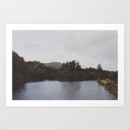 Two river bend Art Print