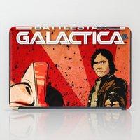 battlestar galactica iPad Cases featuring Battlestar Galactica by Storm Media