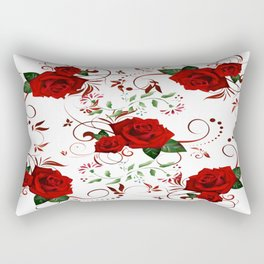 Enchanted Red Rose Abstract Rectangular Pillow