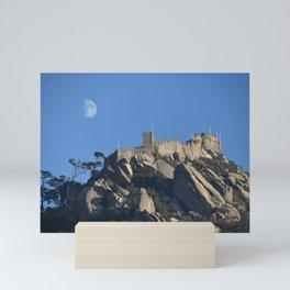 Magical Full Moon above the Castle of the Moors, Portugal Mini Art Print