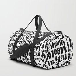 I love you in the morning Duffle Bag
