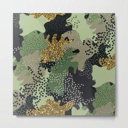Military camouflage modern illustration pattern Metal Print