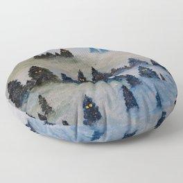 Trollen i snotackta skogen Floor Pillow