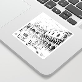 Sketch of San Marco Square in Venice Sticker