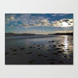 crescent beach reflections Canvas Print