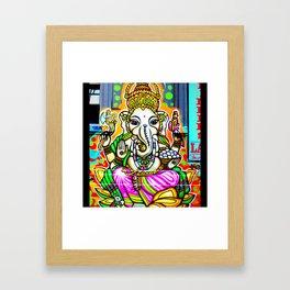 Street Art Ganesh Elephant  Framed Art Print
